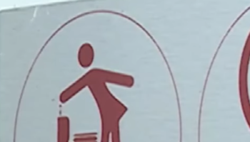 Toilet maintenance sign